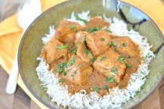 "TKBlog Slow Cooker Coconut Curry 0331 by Ree Drummond / The Pioneer Woman, via Flickr (use cauliflower ""rice"")."