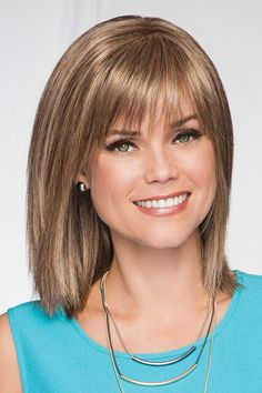 Premium by Eva Gabor Wigs- Monofilament, Lace Front Wig, Frisuren, Premium by Eva Gabor Wigs- Monofilament & Lace Front. Wedding Hairstyles For Medium Hair, Medium Bob Hairstyles, Hairstyles With Bangs, Hairstyle Names, Hairstyles Men, Ponytail Hairstyles, Pretty Hairstyles, Hair Styles 2016, Curly Hair Styles