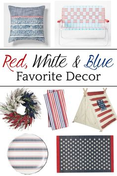My Favorite Red White & Blue Home Decor - Bless'er House Dining Table Makeover, Oak Dining Table, Blue Home Decor, Home Decor Items, 20 Years Old, Ikea Bookcase, Farmhouse Side Table, Diy Bathroom Remodel, Home Upgrades