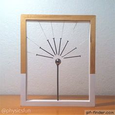 Magnetic Field Lines Sculpture: nails su - Diy Craft Videos