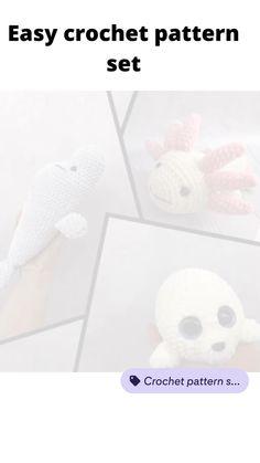 Crochet Amigurumi Free Patterns, Easy Crochet Patterns, Crochet Ideas, Plush Pattern, Stuffed Animal Patterns, Crochet For Beginners, Crochet Animals, Etsy Handmade, Amigurumi Toys