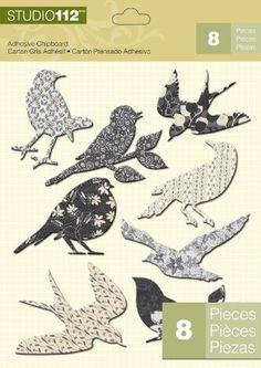 K Studio 112 Chipboard Stickers, Birds