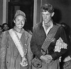 At 11:30 a.m. on May 29, 1953, Edmund Hillary of New Zealand and Tenzing Norgay, a Sherpa of Nepal, become the first explorers to reach the summit of Mount Everest, which at 29,035 feet above sea level is the highest point on earth.