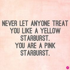 You are a pink starburst.