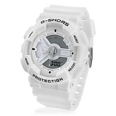 Unisex Analog-Digital Multi-Functional Silicone Band Sporty Wrist Watch (White) – USD $ 9.99