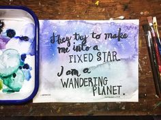 Project 365 challenge - Painting A Day - Week 2 - Painting daily for 365 days. Locket paintings, landscape watercolor, quote paintings, tiny paintings.