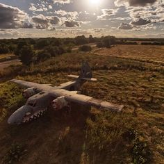 Abandoned Aircraft at Long Marston Airfield in Warwickshire . Top Down, West Midlands, Aerial Photography, Drones, Abandoned, Aircraft, Inspire, Landscape, Life