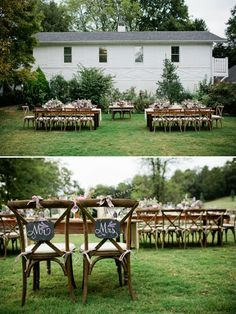 Mr and Mrs seating chalkboard signs