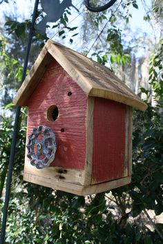 Reclaimed Barn Woods And Repurposed Spigot Birdhouse
