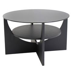 Lowest price online on all Lumisource U-shaped Round Coffee Table in Wenge - TB-CTU WNG U Shaped Coffee Table, Round Black Coffee Table, Modern End Tables, Chair Side Table, Bent Wood, Living Spaces, Living Room, Mid Century Style, Glass Table