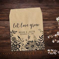 Boho Wedding Wedding Seed Packets Personalized by MinikinGifts