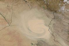 Dust Marches Across Iraq and Iran : Image of the Day : NASA Earth Observatory 09/05/2015