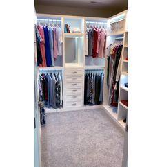 Small Walkin Closet, Small Master Closet, Master Closet Design, Walk In Closet Design, Master Bedroom Closet, Closet Designs, Master Closet Layout, Diy Walk In Closet, Small Walk In Closet Ideas
