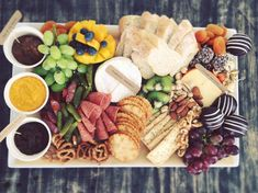 Custom platter created for a pre Adele concert party. Grazing Platter Ideas, Adele Concert, Grazing Tables, Meat And Cheese, Finger Foods, Veggies, Appetizers, Menu, Snacks