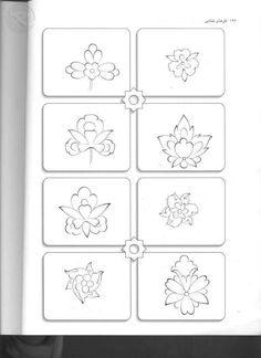 117 Islamic Motifs, Islamic Patterns, Persian Motifs, Zentangle, Turkish Pattern, Flower Henna, Art Basics, Fabric Stamping, Arabic Calligraphy Art
