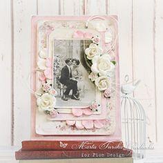 A pink wedding card