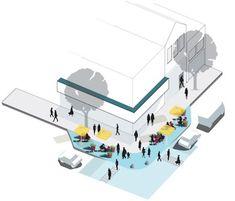 Urban interventions in Mar del Plata - Gehl Architects Architecture Graphics, Urban Architecture, Architecture Drawings, Architecture Interiors, Axonometric Drawing, Presentation Techniques, Urban Design Diagram, Urban Intervention, Public Space Design