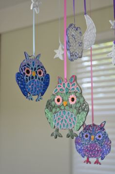 Quilled Owl Mobile by AbandonedAtticCrafts on Etsy