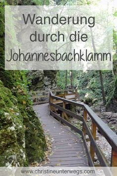 Hike through the Johannesbachklamm Places To Travel, Places To See, Cool Fathers Day Gifts, Short Trip, Beautiful Places In The World, Good Good Father, Ubud, Abandoned Places, Day Trips