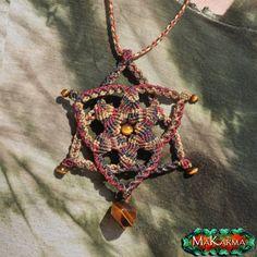Ethnic Necklace Macrame Spiral Mandala Sacred by MaKarmaCreations, $55.00
