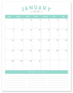 FREE Printable 2018 Calendar Click the link above to download the FREE Printable 2018 Calendar. Please note that all downloads from Simple as That are free for personal use only. If you're new here be sure to give us a follow on Instagram, Facebook and Pinterest for the latest projects and free downloads from Simple …