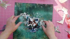 Mixed Media Layout with Emerald Queen Scrapbook Paper, Scrapbooking, Studio Layout, Art Journal Tutorial, Emerald, Mixed Media, Tutorials, Queen, Make It Yourself