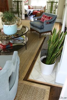 Custom cut area rugs are the perfect solution for large or awkward rooms. Natural seagrass, jute or sisal is a great neutral choice rug for any room. Living Room Size, Large Living Room Rugs, Custom Area Rugs, Custom Fireplace, Inspire Me Home Decor, Cool Rugs, Indoor Rugs, Contemporary Rugs, Interior Design