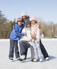 ice, ice rink, ice skates, snow, family, children, parents, fun, ideas