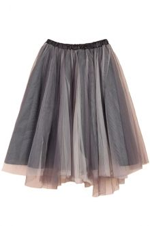 Voile Splicing Multi-Layered Skirt