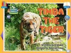 Footsteps2Brilliance's Timba The Tiger, 1 of 26 ebooks in our Alphabet Animals series library of non fiction ebooks.  A whimsical approach to materials focused on stem topics with 40 additional games in this series, beautifully illustrated ENG/ESP Bilingual interactive ebook for the pre-K through third grade learner.