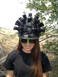Don't forget to bring proper headwear. – Head Case (GC2TD8M) - Geocacher 2muchsoccer33-5 tests the Head Case for any signs of mutation.