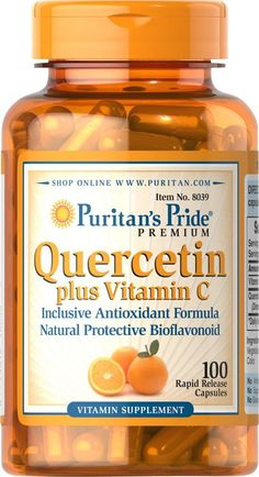 Puritan's Pride Quercetin Plus Vitamin C 250 mg/700 mg-100 Capsules -- Check out this great product. (This is an Amazon Affiliate link and I receive a commission for the sales)