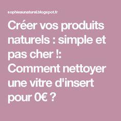 Créer vos produits naturels : simple et pas cher !: Comment nettoyer une vitre d'insert pour 0€ ?