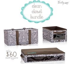 Clean Closet Bundle with the June Thirty-One special!   #getthisbag #thirtyone #organize