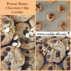 Peanut butter chocolate chip cookie recipe: ingredients, directions, and a special tip from The Elf to make delicious peanut butter chocolate chip cookies. Drop Cookie Recipes, Cake Mix Cookie Recipes, Chip Cookie Recipe, Cake Mix Cookies, Kiss Cookies, Drop Cookies, Butter Chocolate Chip Cookies, Chocolate Cookie Recipes, Chocolate Chip Oatmeal