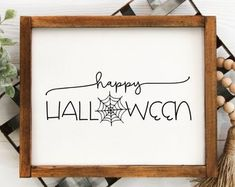 View Thanksgiving Halloween by SweetMomentsOfGrace on Etsy Farmhouse Halloween, Halloween Home Decor, Halloween Signs, Halloween House, Holidays Halloween, Halloween Crafts, Disney Halloween, Happy Halloween, Halloween Decorations