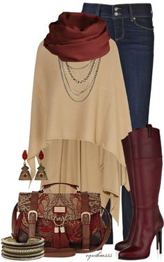 """Burgundy and Cream"" by cynthia335 on Polyvore"