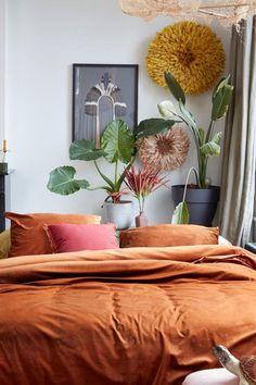 Na een lange vermoeiende dag kun je heerlijk uitrusten onder dit At Home by Beddinghouse Tender dekbedovertrek. Een prachtig velours dekbedovertrek welke een luxe en rijk gevoel geeft. De voorkant is velours en de achterkant is 100% katoen. #fonQ #fonQnl #slaapkamer #slaapweken #dekbedovertrek #Beddinghouse #slaapkamerideeen #slaapkamerinspiratie #wooninspiratie