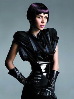 neo goth, cyberpunk, violet hair, hairstyle, neo cyberpunk style, purple hair, cyber hair, future fashion, cyber girl, future cyberpunk by FuturisticNews.com