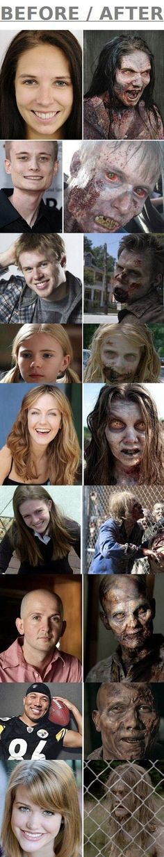 Funny - Make-up of The Walking Deads Zombies