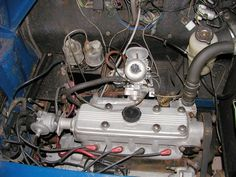 9X engine in the 1978 car. This appears to have a steel cylinder block and aluminium head.