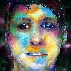 #selfie #myface #selfportrait #colors #colourseverywhere #watercolor #selfieart #watercolours #iamarainbow Watercolours, Selfie, Colors, Painting, Instagram, Art, Art Background, Painting Art, Kunst