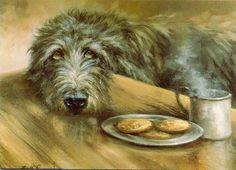 ::: Republika Marzeń - Irish Wolfhound in art :::. Scottish Deerhound, Irish Wolfhounds, Big Dogs, Dogs And Puppies, Greyhound Art, Lurcher, Portrait Art, Dog Portraits, Dog Paintings