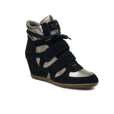 Ash - Bea midgnight wedges Trainers £179 http://myfashiontribu.com/collections/ash-1/products/ash-bea-midnight-and-metallic-high-top-wedge-trainers