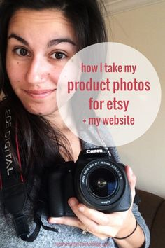 How I Take Product Photos for Etsy and My Website - my super simple set up, cheap or free editing resources and the truth about the fancy pants camera you think you have to have. #merriweathercouncil #productphototips #handmadebusinesstips