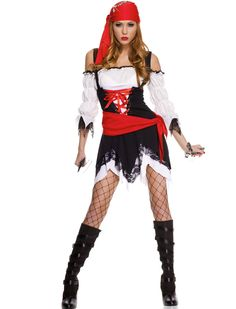 2016 New Womens Deckhand Darlin Pirate Costume,Deluxe Lady Caribbean Swashbuckling Sexy Pirate Wench fancy Dress Costume Pirate Costume Fille, Female Pirate Costume, Pirate Costumes, Pirate Cosplay, Cosplay Girls, Pregnant Halloween Costumes, Halloween Fancy Dress, Halloween Party, Adult Halloween