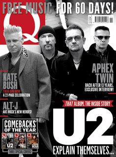 Our new issue, Q340 out Tuesday, has three covers. #3 Here's the second featuring @U2 Order your copy now pic.twitter.com/mLxGXsaalY