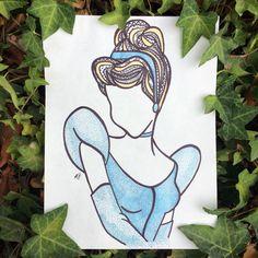 Cinderella zentangle