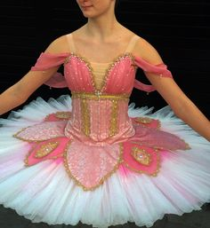 pink and cream tutu .pure silk brocade hand dyed. gold braid hand beaded with crystals  , beads and pearls ..tutu net dip dyed .