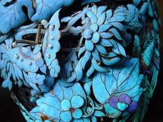 A Chinese Kingfisher Wedding Headdress, decorated with sprig-mounted elements inlaid with beautiful kingfisher feathers c.jpg